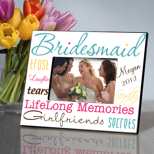 Classic Colors Personalized Bridesmaids Frames
