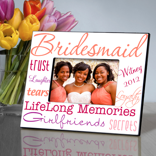 Pleasant Peach Personalized Bridesmaids Frames