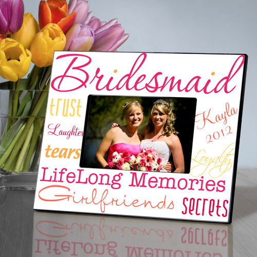 Preppy Pink Personalized Bridesmaids Frames