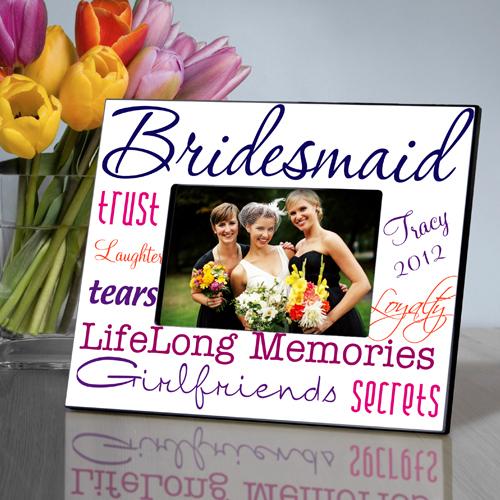 Purple Passion Personalized Bridesmaids Frames