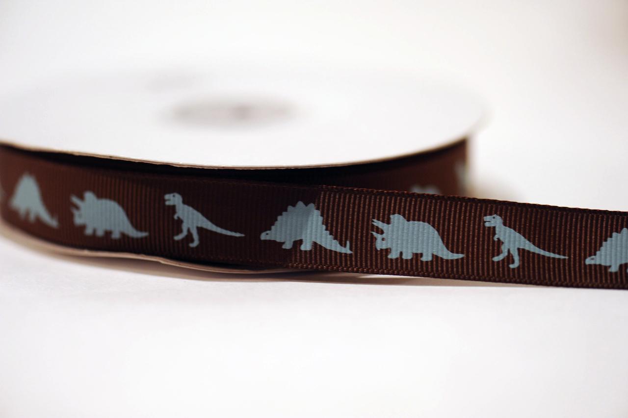 "5/8"" Grosgrain Dinosaur Ribbon"