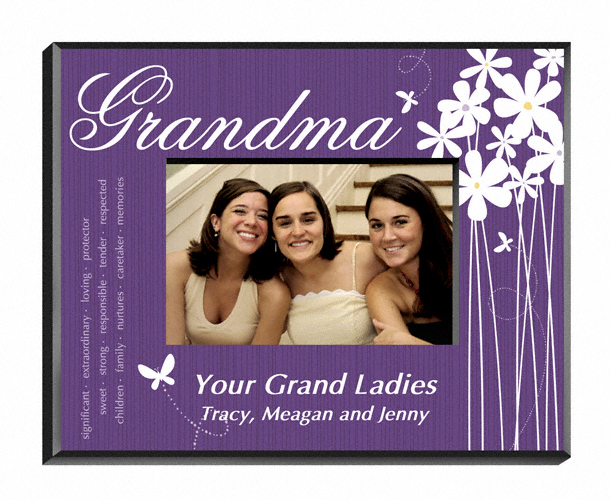 Personalized Blooming Flowers Grandma Picture Frame