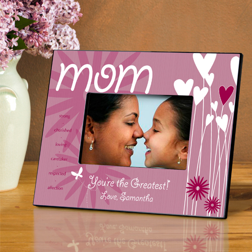 Blooming Hearts Personalized Mom Picture Frame