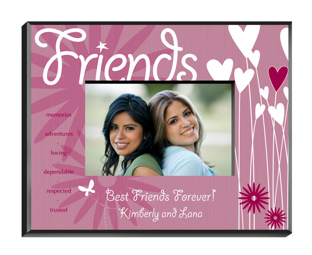 Blooming Hearts Personalized Friends Picture Frame
