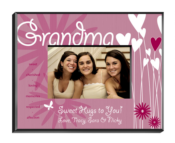Blooming Hearts Personalized Grandma Picture Frame
