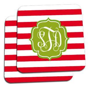Holiday Stripes Custom Coasters