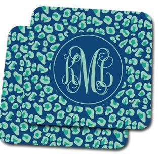 Jewel Leopard Custom Coasters