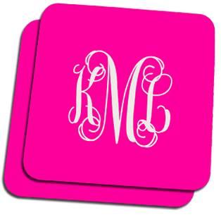 Solid Script Monogram Custom Coasters