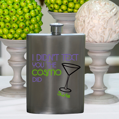 Girls Party Flasks with Name - Cosmo Flasks