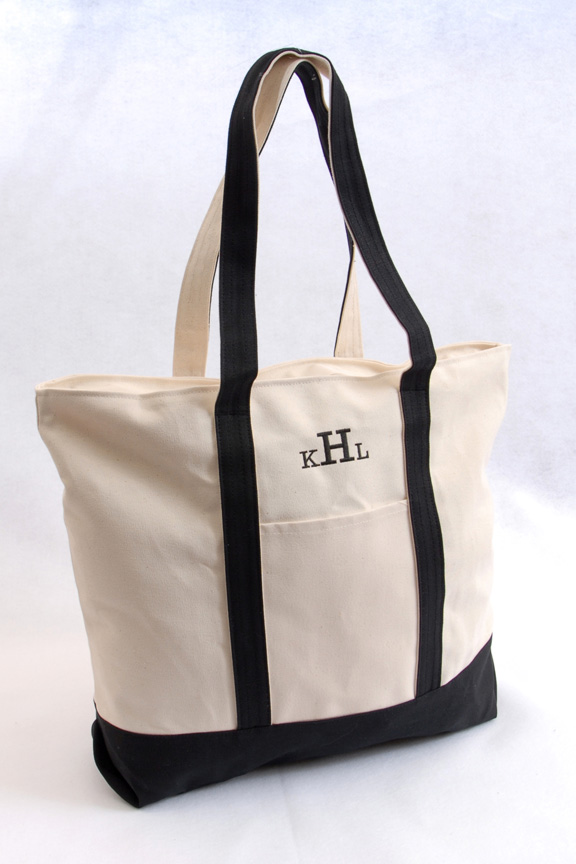 Personalized Beach Tote 'Em Bag