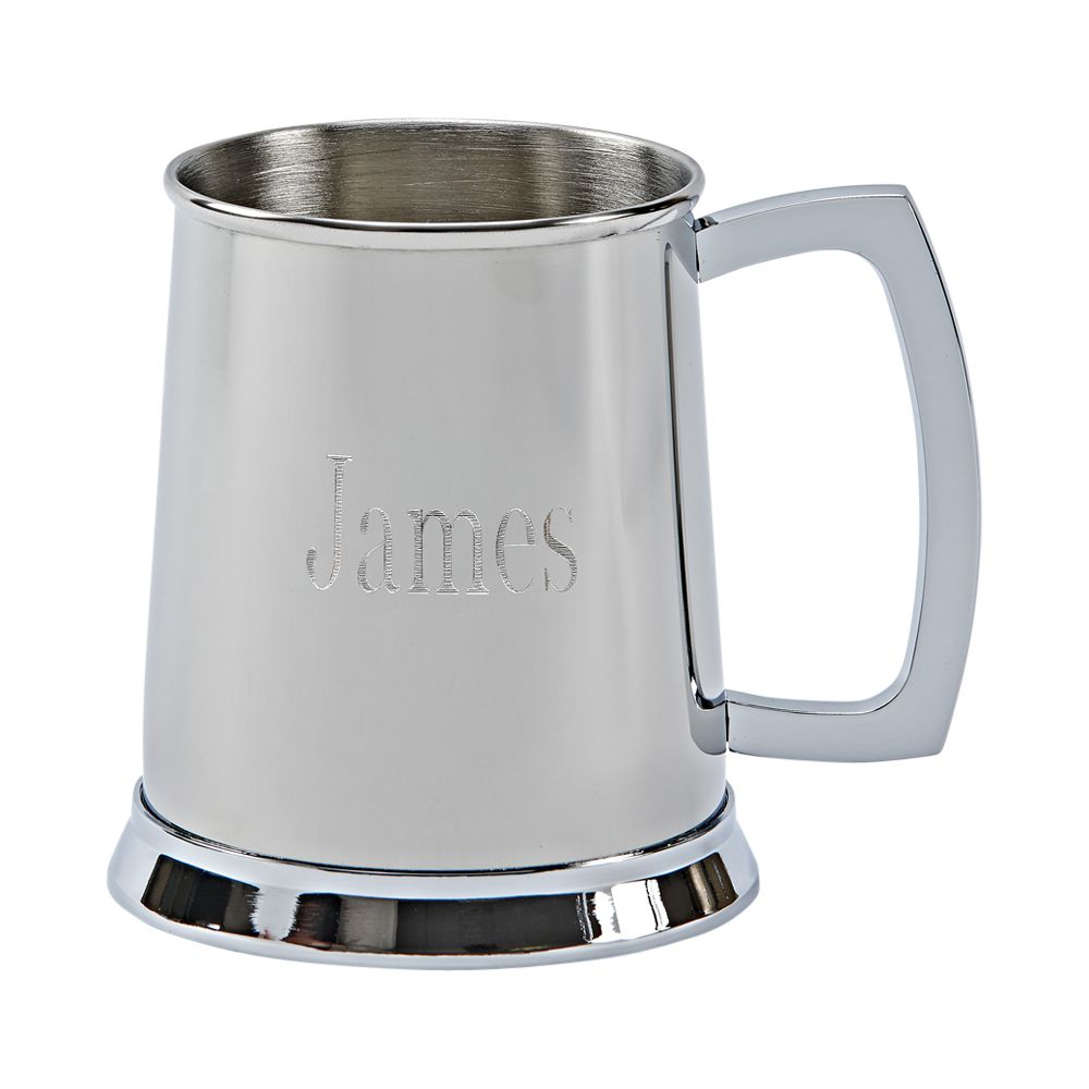 20 oz Stainless Steel Tankard - Polished Finish