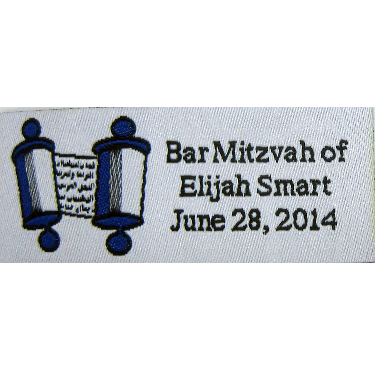 Dark Blue Bar or Bat Mitzvah Boutique Labels. Great for yarmulkes to commemorate the day!
