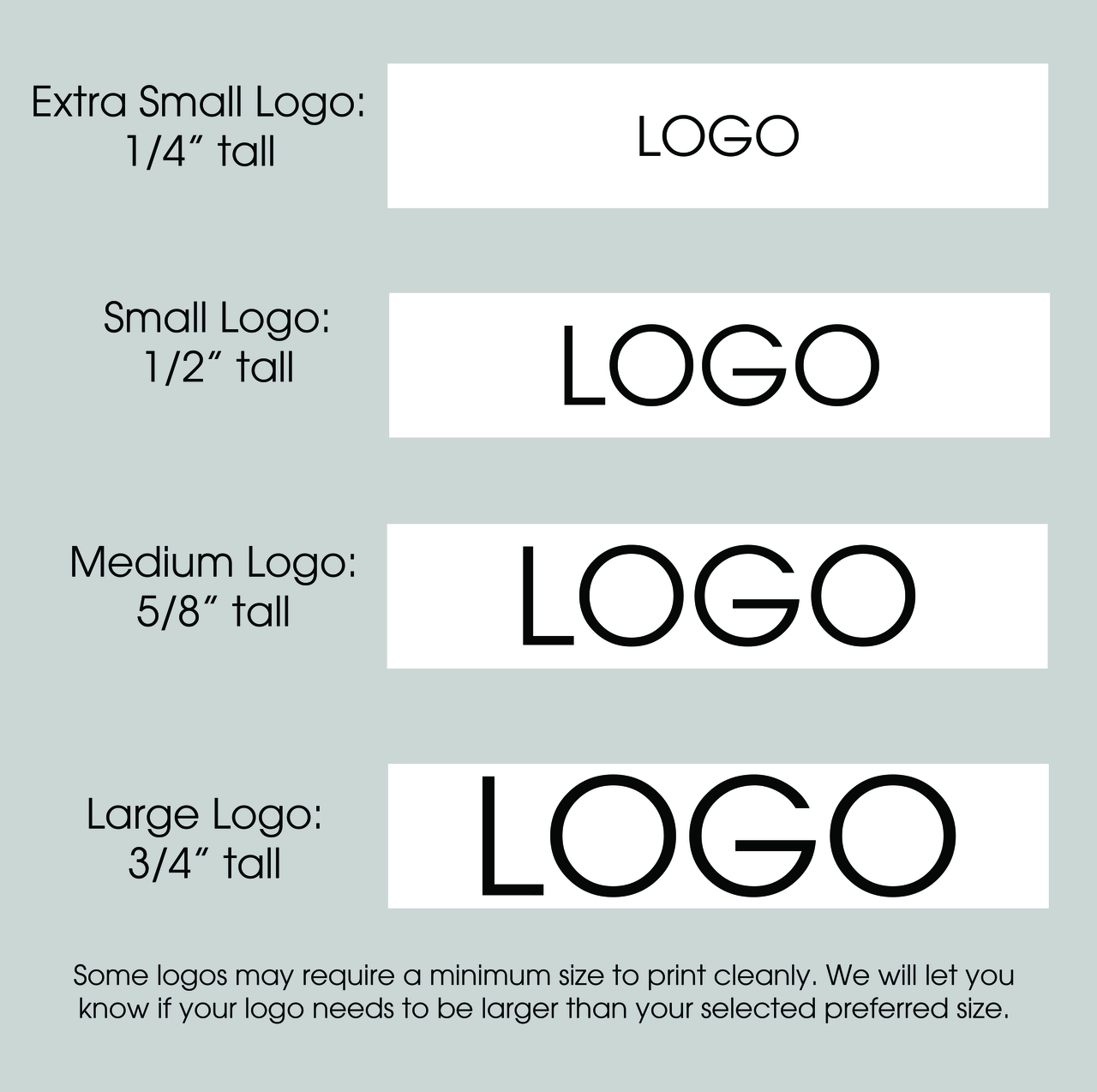 "7/8"" Custom Logo Textured Ribbon Logo Size Layouts"