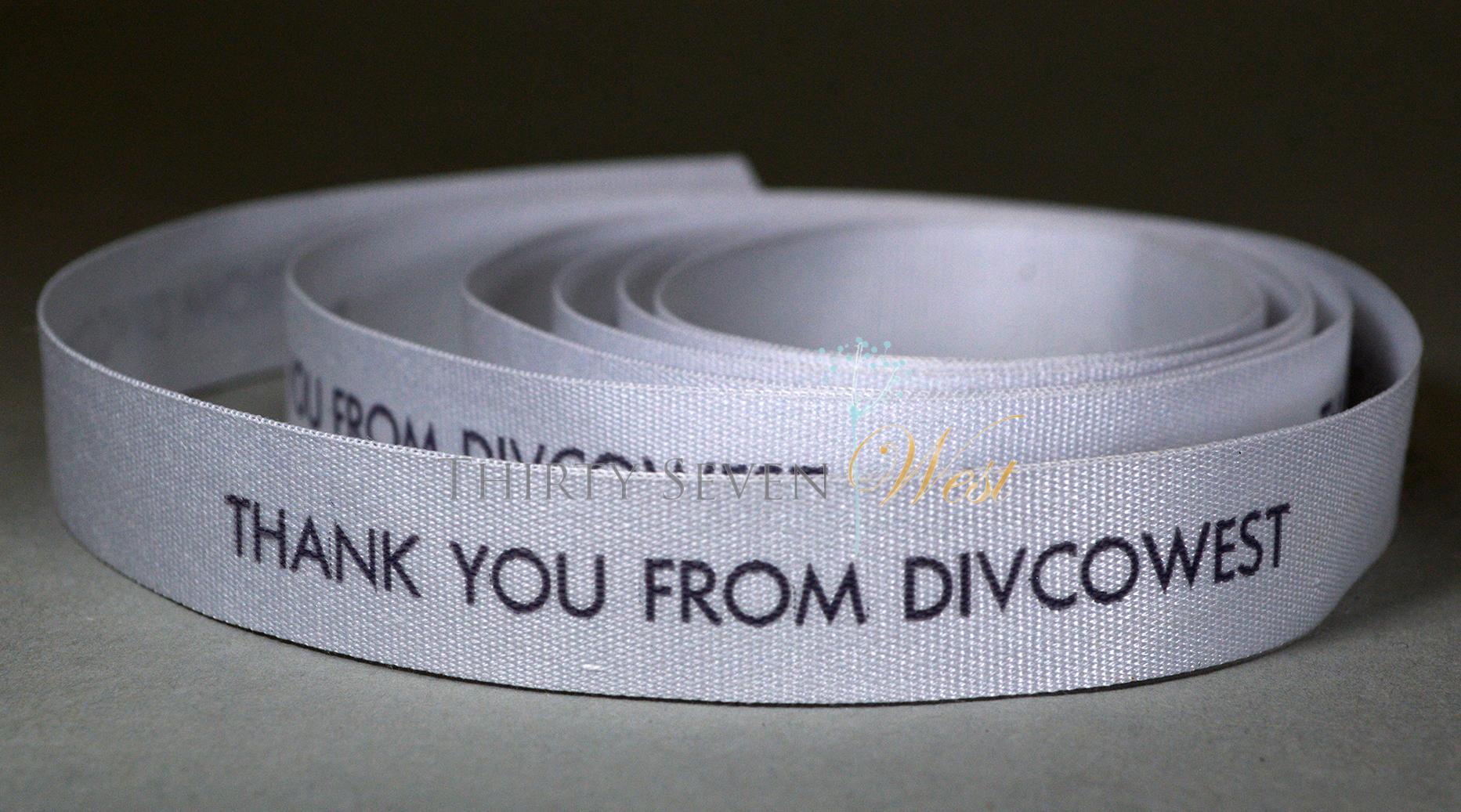 Branding Ribbon, Printed Ribbon, Personalized Logo Ribbon