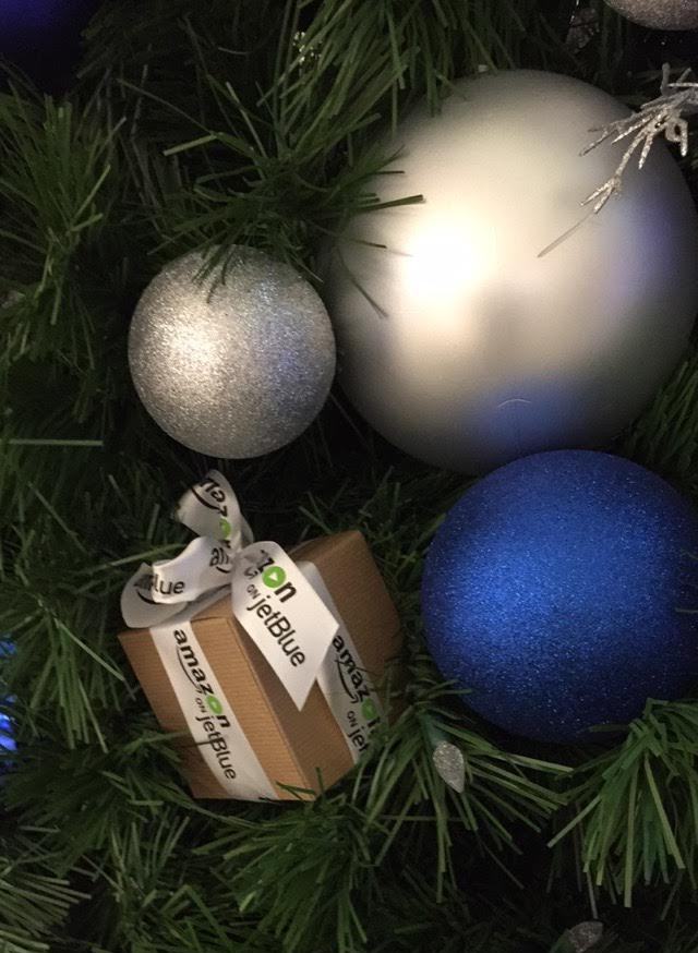 Customized Multi-colored Ribbon, Company Logo Ribbon for Ornaments, Amazon on JetBlue