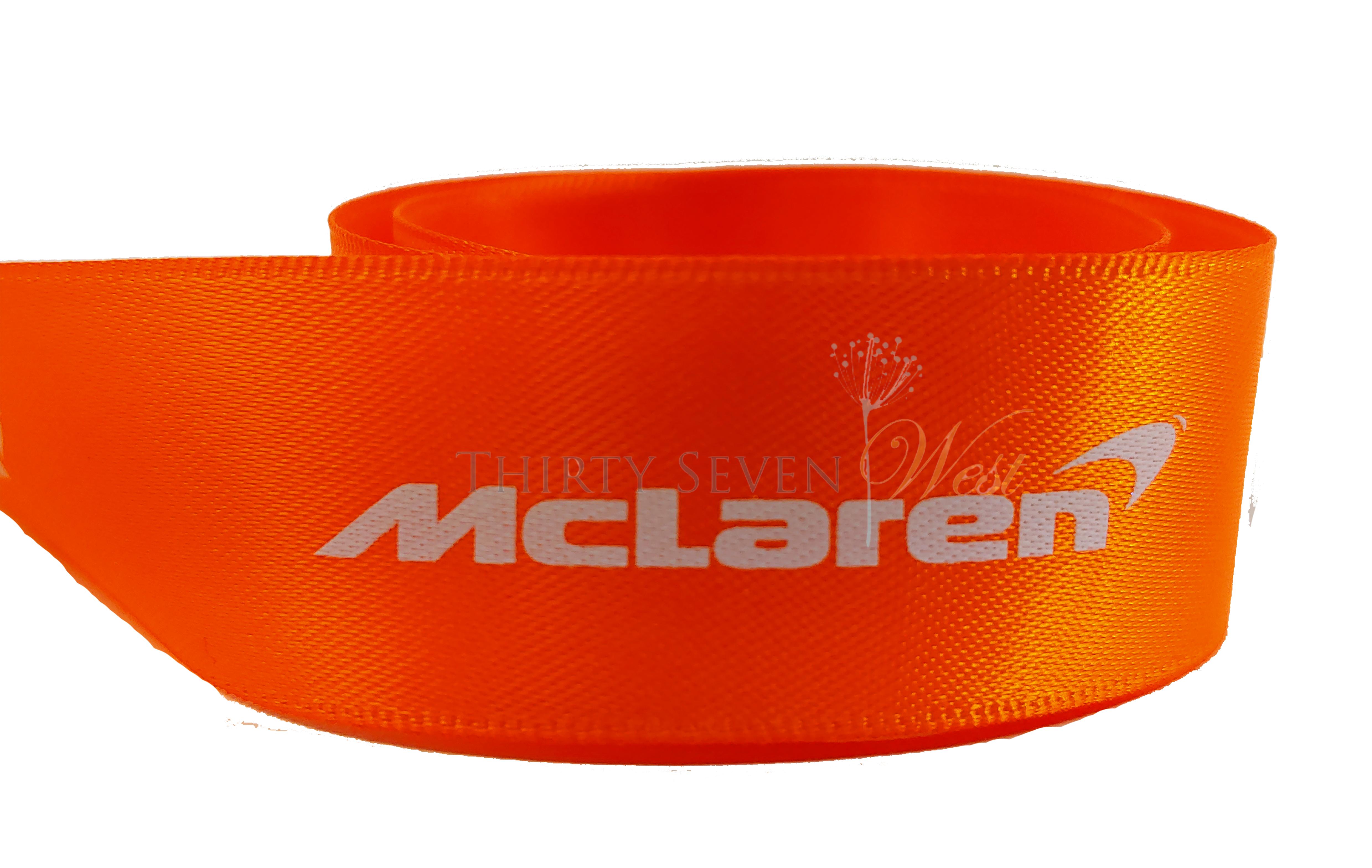Pantone Color Ribbon, White Print on Ribbon, Logo Ribbon, Company Logo on Ribbon, Satin Logo Ribbon,  Branding Ribbon.