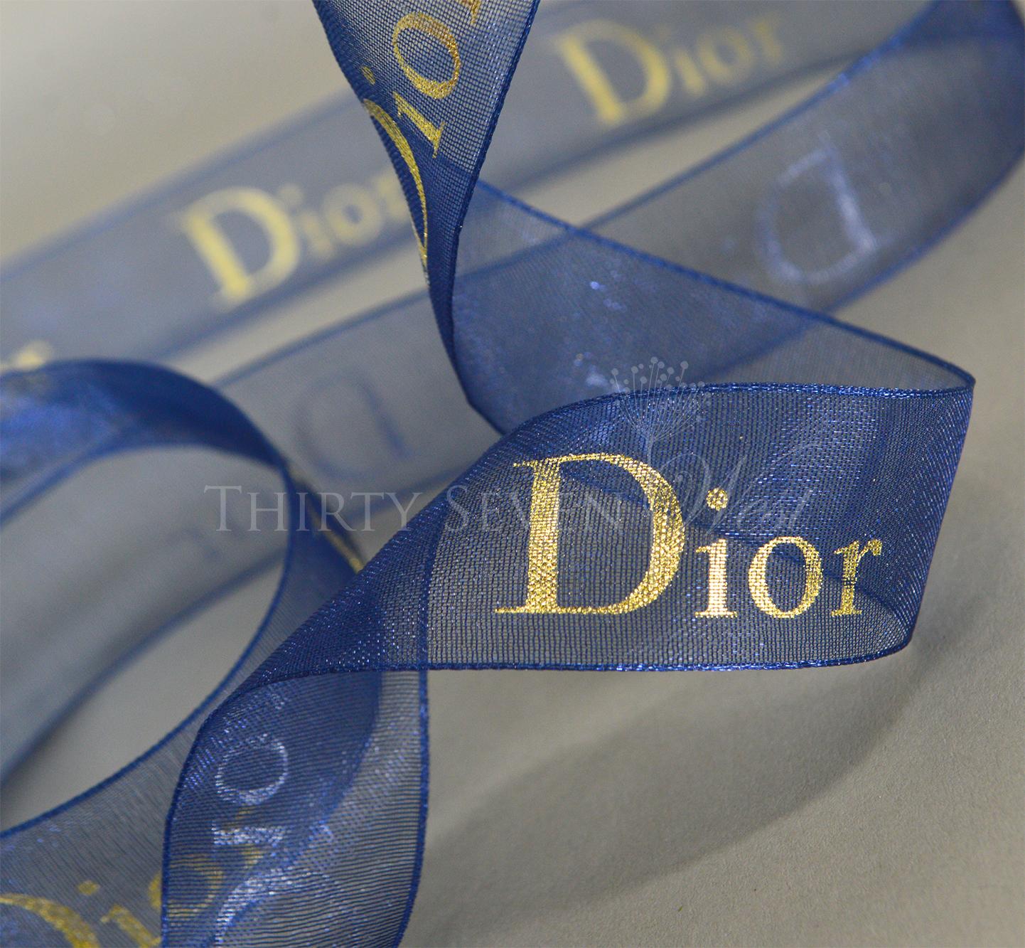 Organza Ribbon, Blue Organza Ribbon, Company Logo Ribbon, Logo Ribbon, Ribbon with Logo,  Pantone Color Ribbon