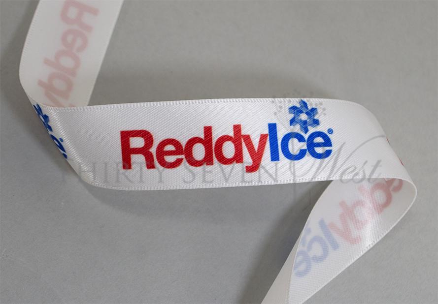 Custom Logo RIbbon, Multicolor Logo RIbbon, Full Color Logo RIbbon, Ribbon with logo , Corporate Ribbon, Company Logo Ribbon, Logo Printed on Ribbon, Custom Logo Printing, White Ribbon Printing, White Ribbon with Logo on it.