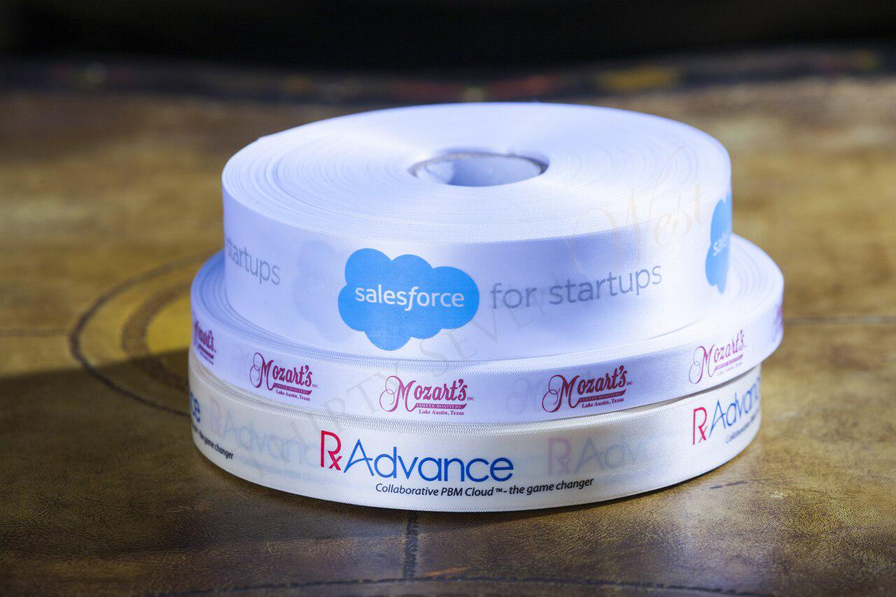 Customized Multi-Color Ribbon, Corporate Logo Ribbons, Salesforce, RxAdvance, Mozart's