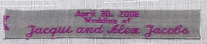 100% Cotton Woven Labels - Style F217