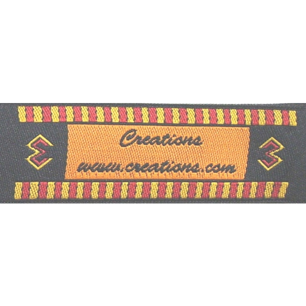 Bold & Spicy with Strong Black Accents Fabric Clothing Labels
