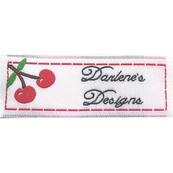 Personalized Woven Fabric Labels - Cherries Jubilee!