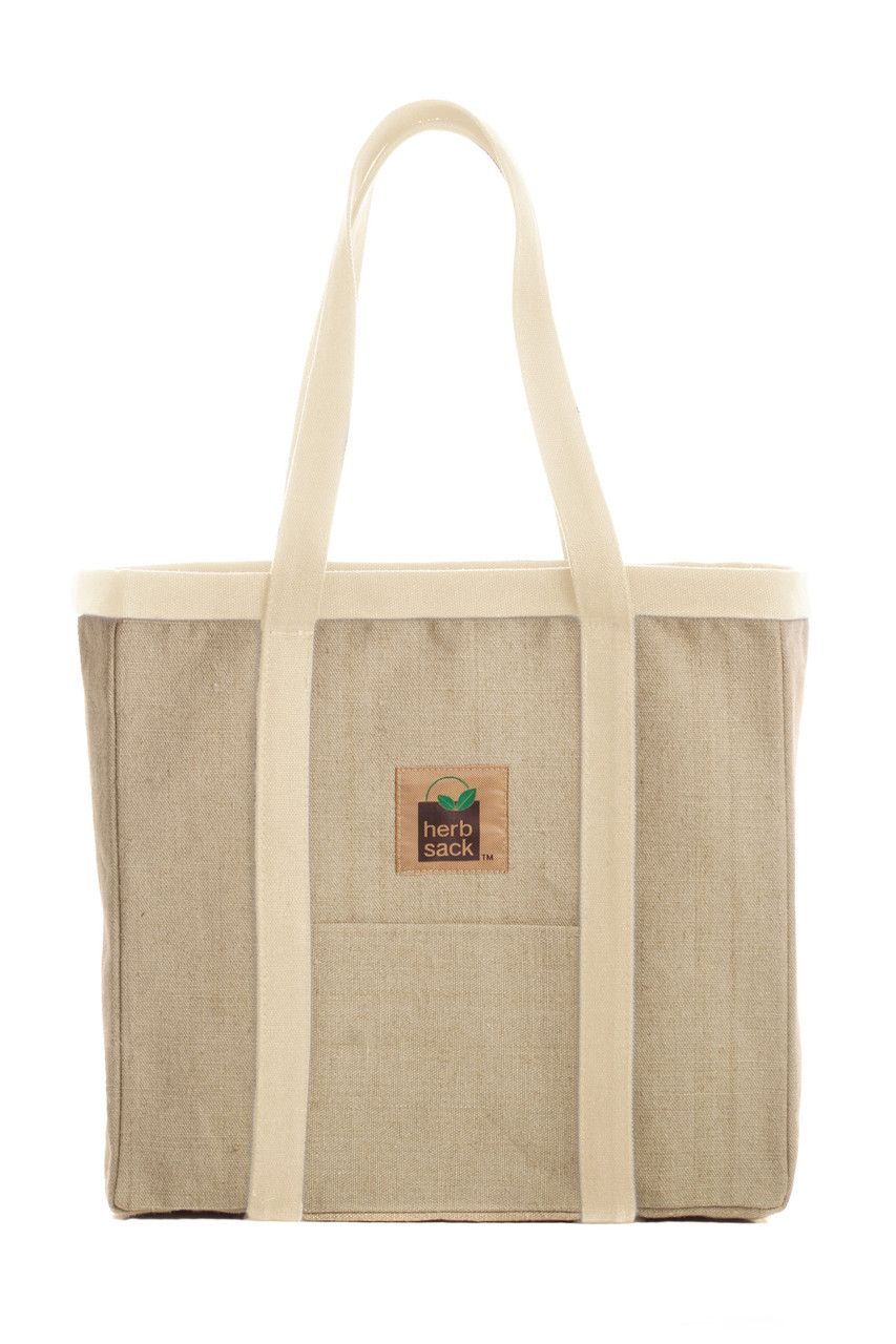 The Linda Organic Hemp Tote - All Natural - in your choice of 5 trim colors