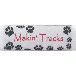 Paw Print Fabric Clothing Labels - Pawdorable!