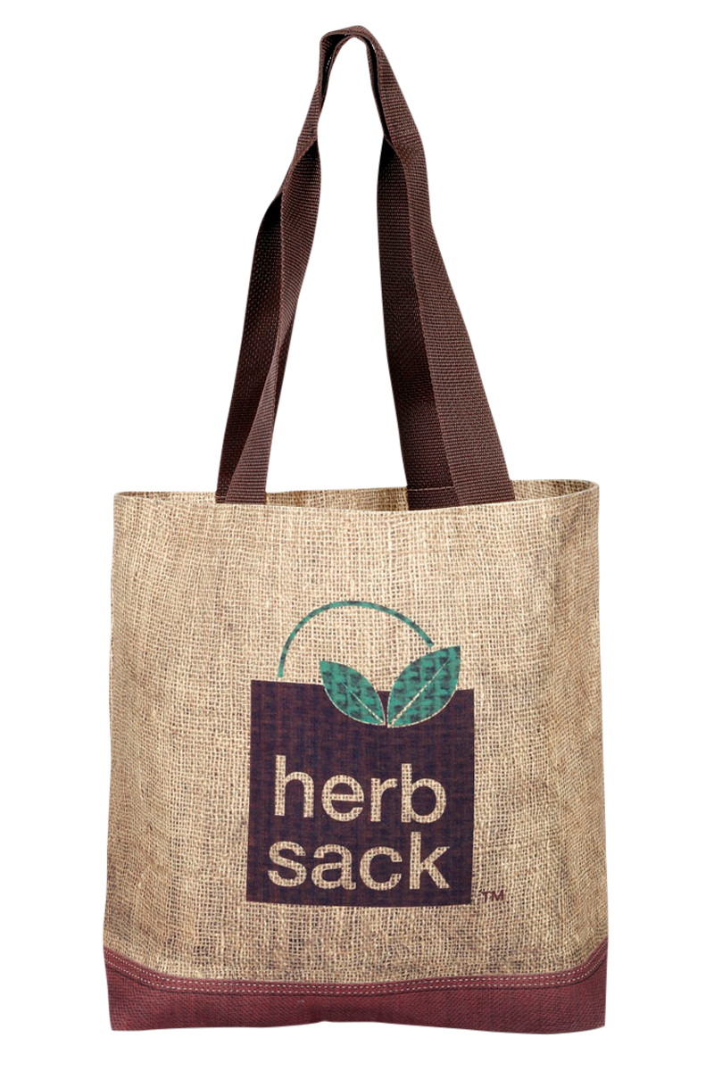The Bernadette Faux Burlap Tote in Polyester Canvas