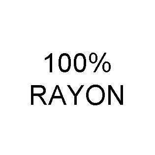 100% Rayon Content Labels