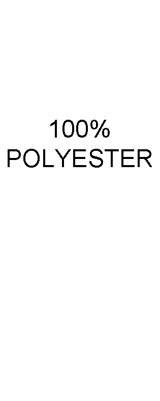 100% Polyester Content Labels