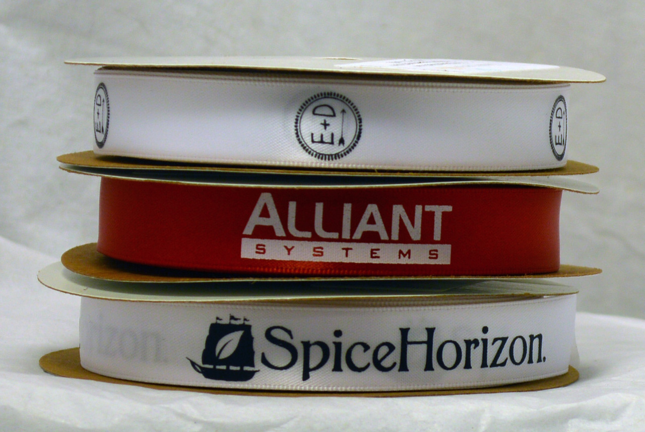 "5/8"" Customized Logo Ribbon with Company Branding"