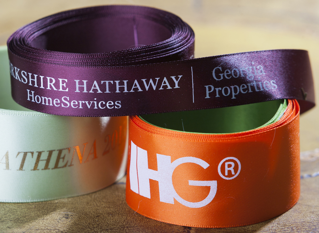 Custom Logo Ribbon with Two Color and Multi Color Print