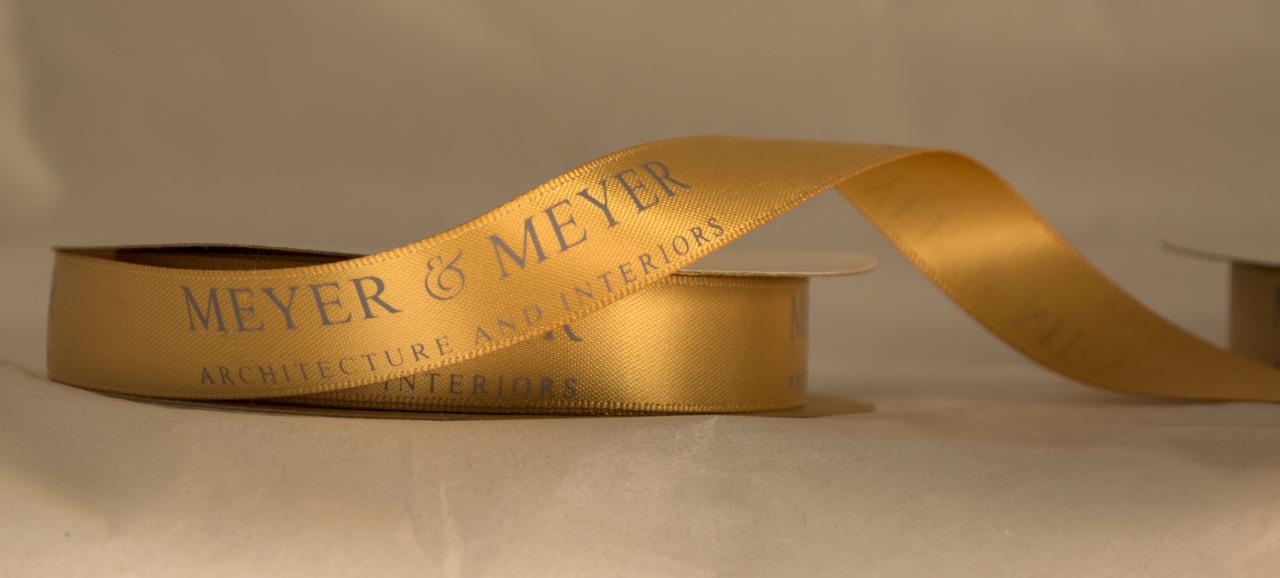Meyer and Meyer Custom Logo Ribbon for Corporate Branding