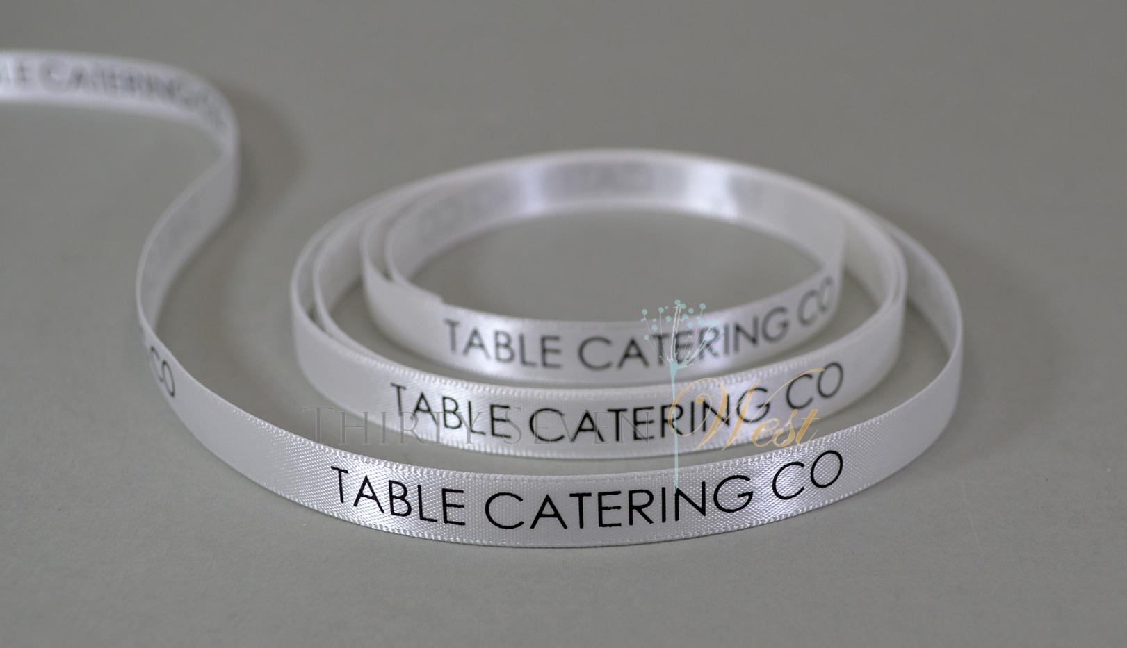 """5/8"""" Branding Ribbon,  Company Ribbon, Company Logo Ribbon, Custom Ribbon, Custom Logo Ribbon."""