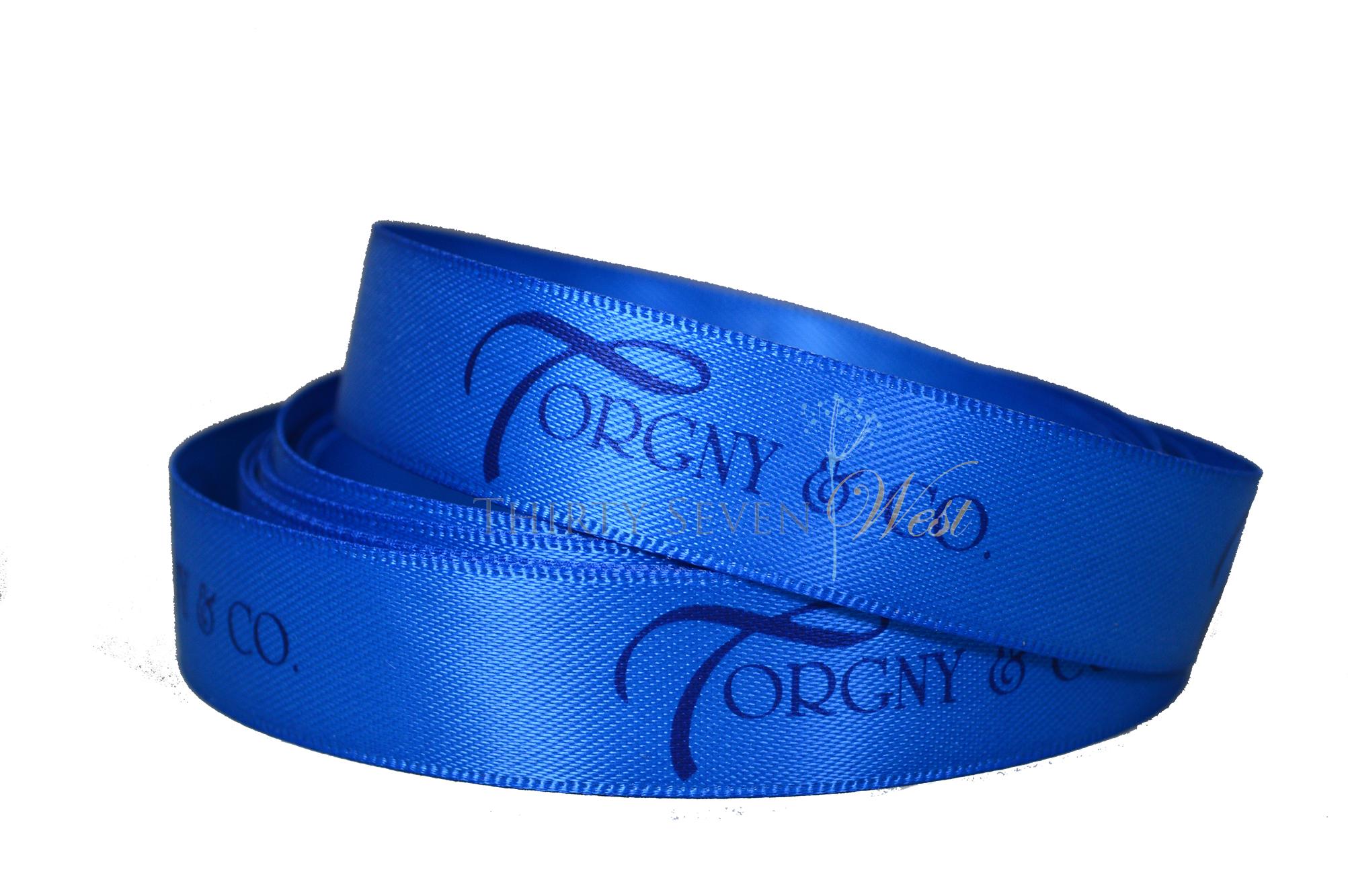 Branding Ribbon, Company Logo Ribbon, Business Logo on Ribbon, Custom Logo Ribbon, Logo RIbbon, Custom Satin Ribbon.