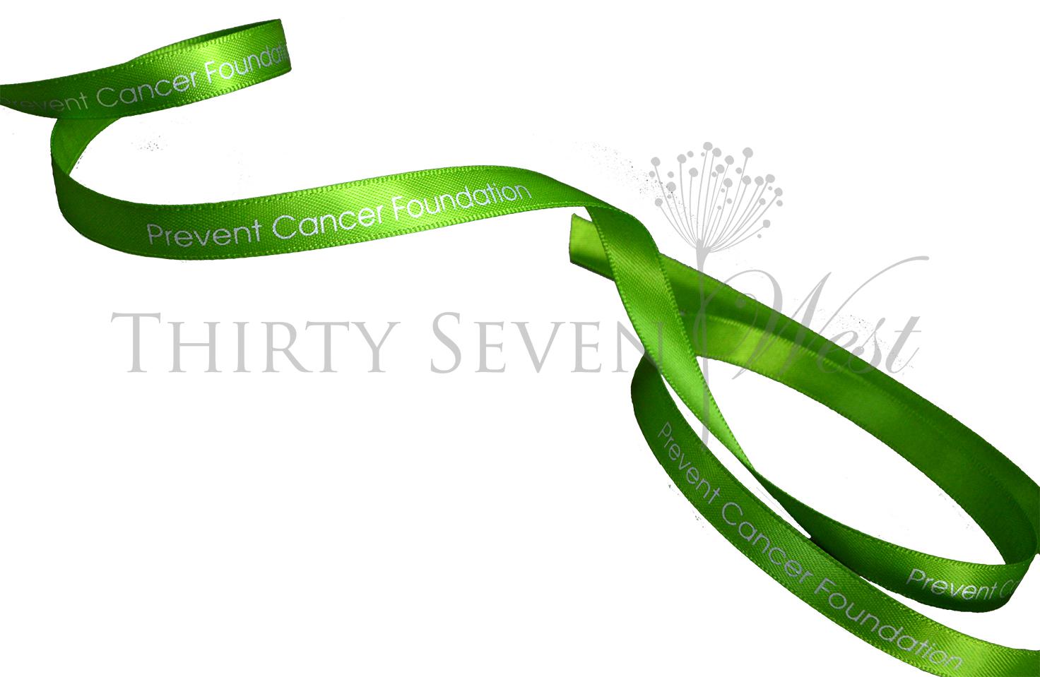 Green Ribbon, Satin Ribbon, Custom satin Ribbon, Logo on Ribbon, Logo Ribbon, Satin Logo Ribbon, Custom Logo ribbon, Printed Logo Ribbon, Matte Metallic Print on Ribbon, Branded Ribbon., Custom Ribbon Printing.