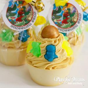 Dinosaur Cupcake Soap