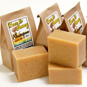 Lemongrass, Lav, Beer and Honey Shampoo Soap