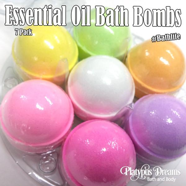 Essential Oil 7 Pack Bath Bombs - 530g