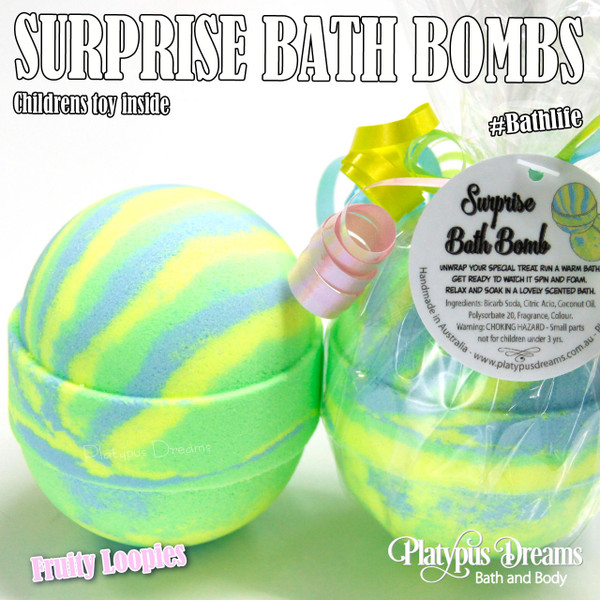Surprise Bath Bomb - Toy inside - 170g - Yellow-Green-Blue
