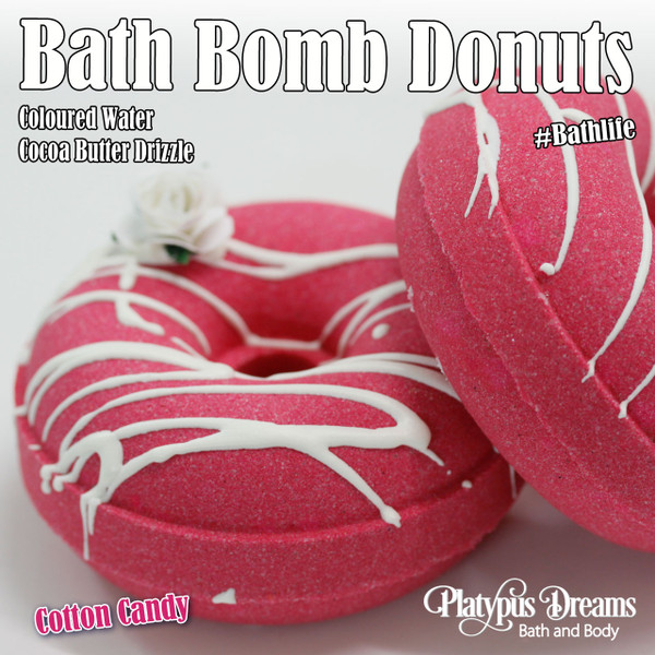 Cotton Candy Bath Bomb Donut - 100g
