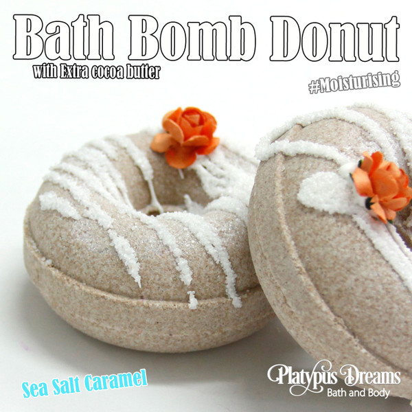 Sea Salt Caramel Bath Bomb Donut - 120g