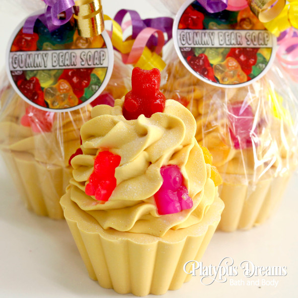 Gummy Bear Cupcake Soap
