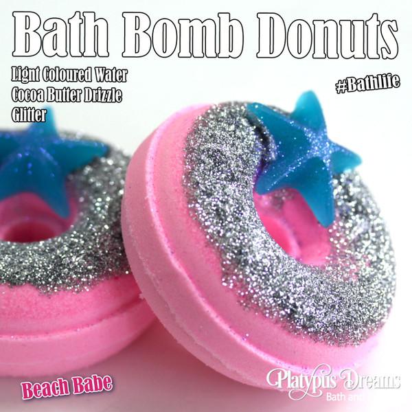 Beach Babe Bath Bomb Donut - 130g