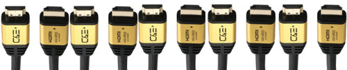 25ft (7.6M) High Speed Ultra 4K HDMI Cable with Ethernet (25 Feet/7.6 Meters) Supports 4Kx2K 60HZ, 18 Gbps - 28 AWG - 3D/ARC/CEC/HDCP 2.2/CL3 - Xbox PS4 PC HDTV CNE617725 (5 Pack)