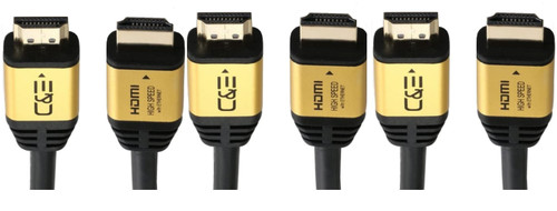 35ft (10.7M) High Speed Ultra 4K HDMI Cable with Ethernet (35 Feet/10.7 Meters) Supports 4Kx2K 60HZ, 18 Gbps - 26 AWG - 3D/ARC/CEC/HDCP 2.2/CL3 - Xbox PS4 PC HDTV CNE617770 (3 Pack)