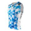 DeSoto Men's Skin Cooler Half Zip Tri Top - Blue Hive