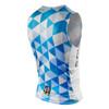 DeSoto Men's Skin Cooler Half Zip Tri Top - Back