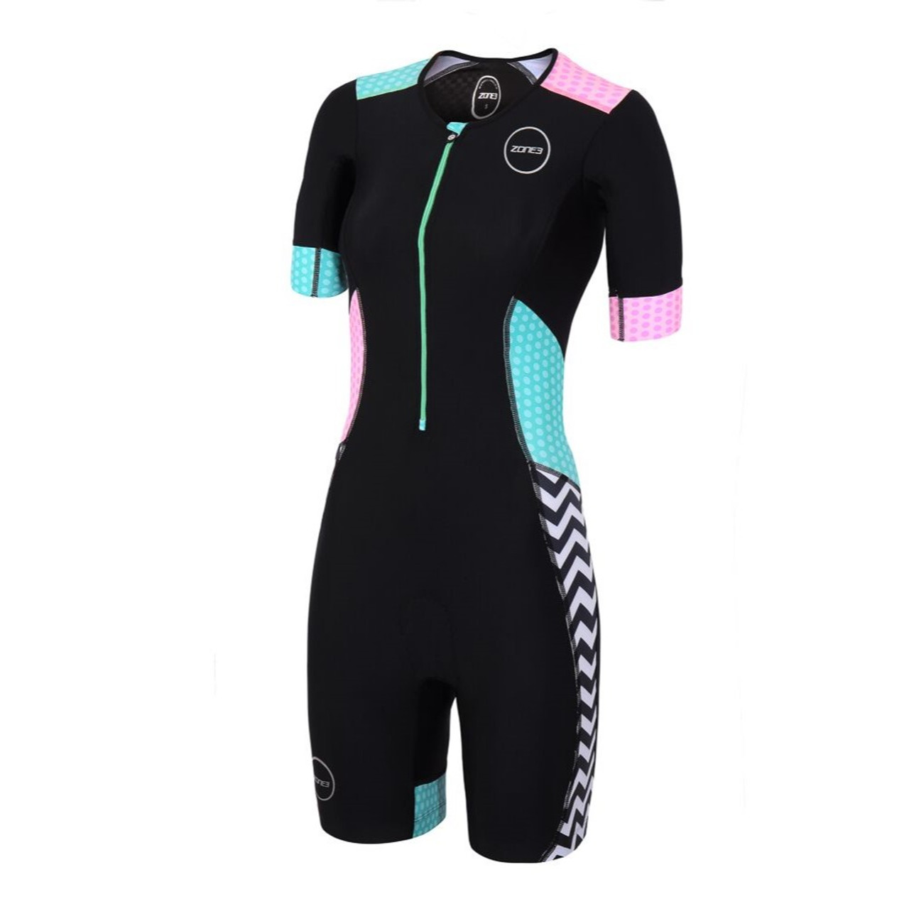 3ee7a60fe49b15 Zone3 Women's Activate Plus Short Sleeve Tri Suit